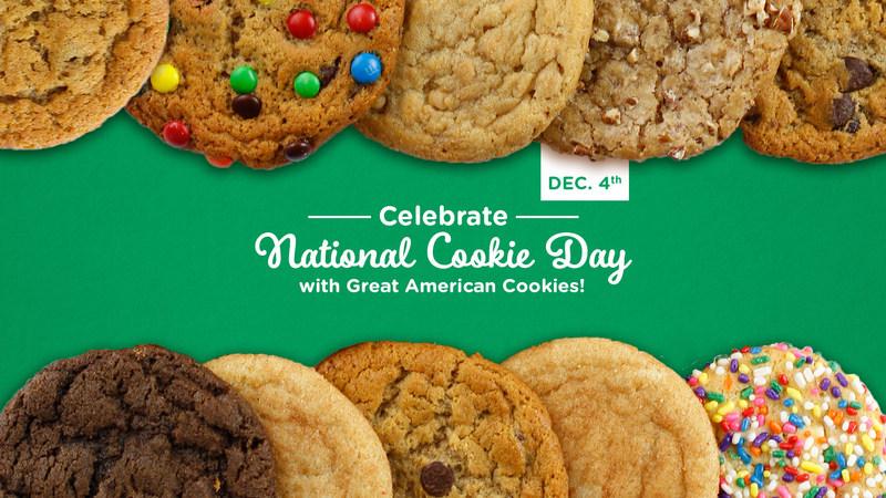 Free Cookie at Great American Cookies on Dec. 4.