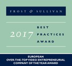 2017 European Over-the-Top Video Entrepreneurial Company of the Year Award (PRNewsfoto/Frost & Sullivan)