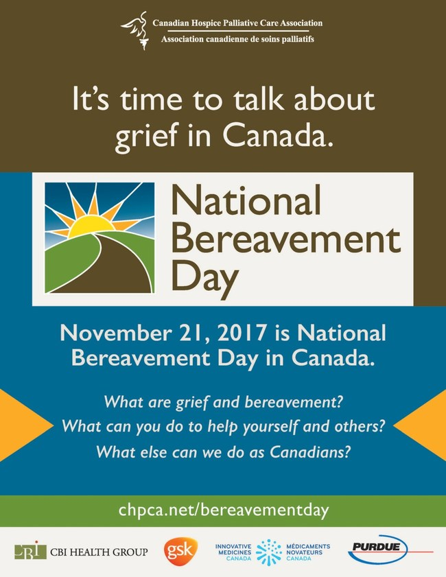 CHPCA Bereavement Day Poster (CNW Group/Canadian Hospice Palliative Care Association)