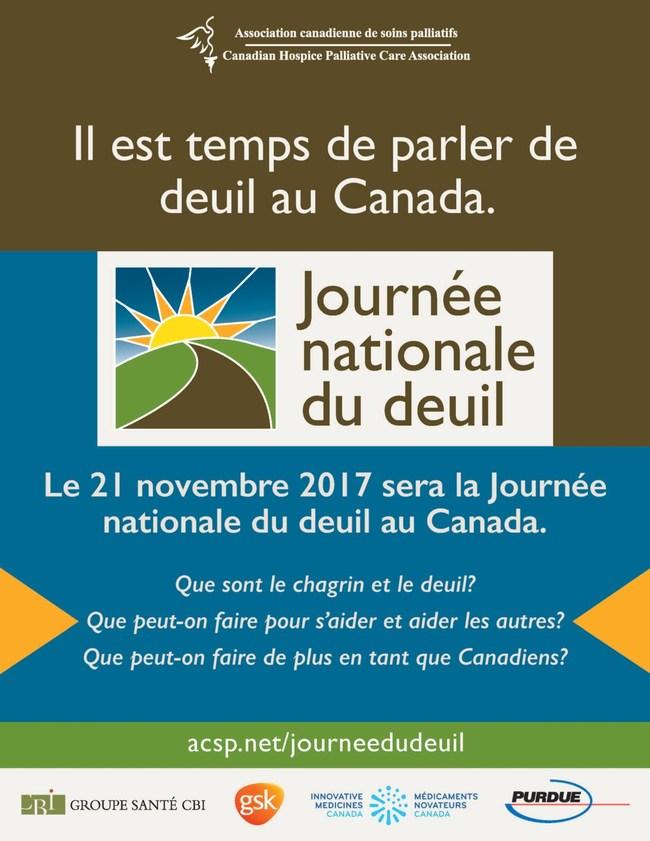 Affiche de la Journée nationale du deuil (Groupe CNW/Association canadienne de soins palliatifs)