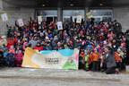 Lancement de la Grande semaine des tout-petits en compagnie de plus de 200 enfants devant la mairie d'arrondissement de Verdun. (Groupe CNW/Ville de Montréal - Arrondissement de Verdun)