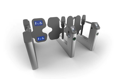 Cubic's proposed rendering of new fare gates for the MBTA.