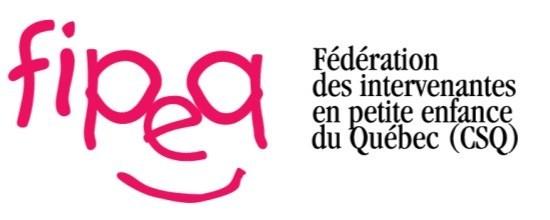 Logo : Fédération des intervenantes en petite enfance du Québec (FIPEQ-CSQ) (Groupe CNW/Conseil québécois des services éducatifs à la petite enfance (CQSEPE))