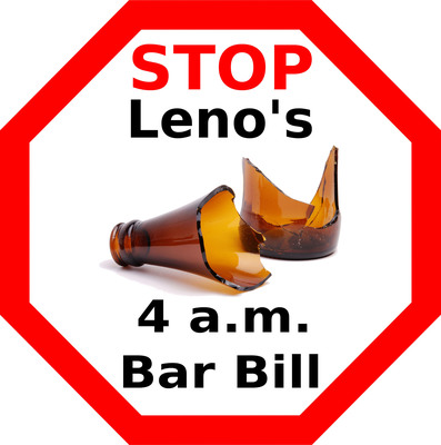California statewide coalition launches campaign to stop expanded alcohol sales. Public health and safety threatened by possible 4 a.m. last call for bars, restaurants and nightclubs. (PRNewsFoto/Alcohol Justice)
