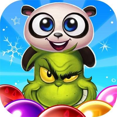 El Grinch viene al juego Panda Pop de Jam City (www.jamcity.com)