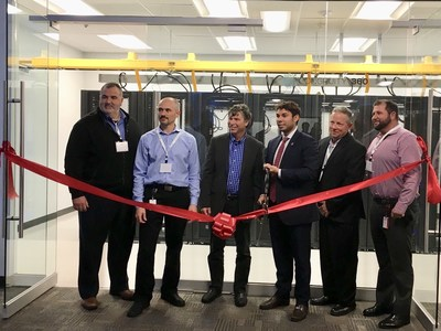 Congruity360 staff members with Mayor of Fall River, MA Jaisel Correia at the grand opening of the company's Executive Briefing Center
