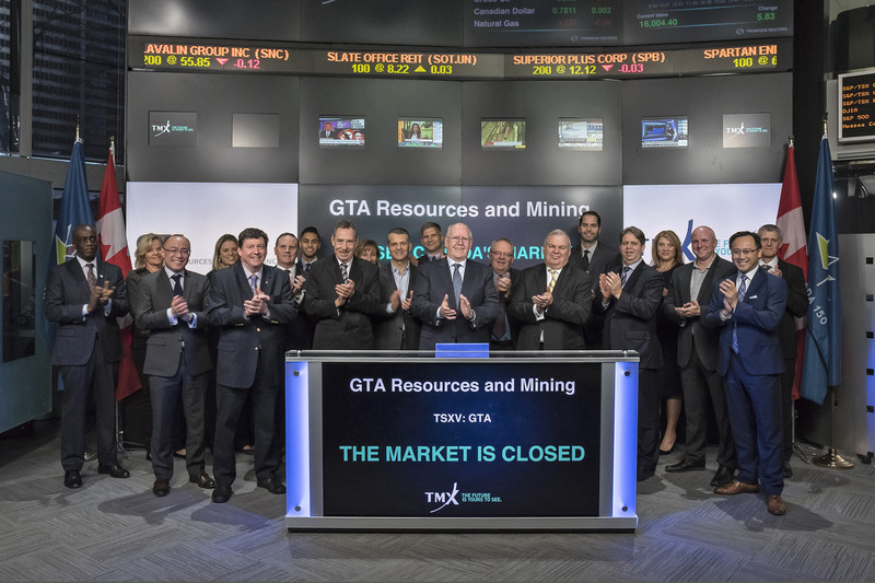 GTA Resources and Mining Inc. Closes the Market (CNW Group/TMX Group Limited)