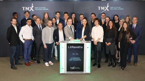 Frédérick Mannella, Founder and Chief Executive Officer, LXRandCo Inc. (LXR), joined Sylvain Martel, Director, Capital Formation, TMX Group, to open the market. LXR is an international omni-channel retailer of branded vintage luxury handbags and accessories. LXR sources and authenticates pre-owned products and sells them through a retail network of stores located in major department stores in Canada, the United States and Europe, wholesale operations primarily in the United States, and its own e-Commerce website. LXRandCo Inc. commenced trading on Toronto Stock Exchange on June 14, 2017. (CNW Group/TMX Group Limited)