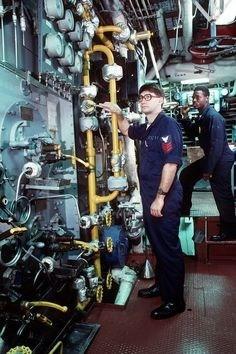 US Navy Engine Room