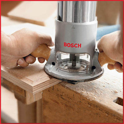 Holiday gift ideas at Woodcraft include this Bosch Electronic Variable Speed Fixed Base Router that can do myriad tasks, including adding a decorative edge to a door panel or tabletop.