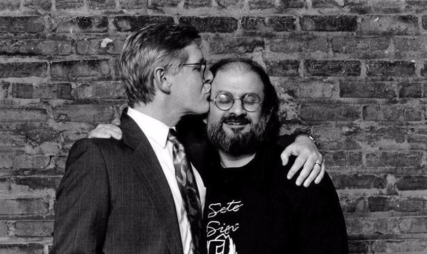 Bob Rae and Salman Rushdie. Image credit: Jean Marc DesRochers Photography, 1992 (CNW Group/PEN Canada)