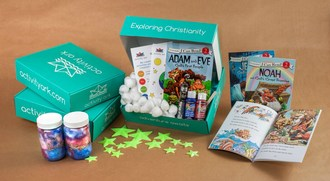 Activity Ark explores the Bible through story, play, activities, family discussion questions, and a toy or game.