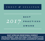 Frost & Sullivan Recognizes Rift Valley Energy (RVE) for Its Strong Competitive Strategy, Innovation and Leadership in Renewable Energy in East Africa