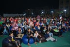 One and all were mesmerized with the movie right under the stars (PRNewsfoto/Rustomjee Group)