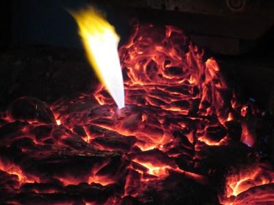 The process of melting in a liquid slag bath, blown by gas. (PRNewsfoto/NUST MISIS)