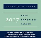 2017 North American Electronic Logging Device (ELD) Solutions Customer Value Leadership Award (PRNewsfoto/Frost & Sullivan)