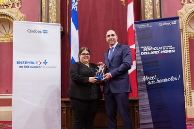 Félicitations à Mme. Marie-France Bolduc, lauréate de la région de la Chaudière-Appalaches. (Groupe CNW/Cabinet du ministre de l'Éducation, du Loisir et du Sport)