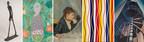 Alberto Giacometti, Homme qui marche, 1960. Bronze, 180,5 x 27 x 97 cm © Succession Alberto Giacometti / SODRAC pour le Canada (2018) // Cynthia Girard, Money, 2015. Acrylique sur toile, 267 x 183 cm. Collection du Musée national des beaux‑arts du Québec. Achat (2017.253) © Cynthia Girard. Crédit photo : MNBAQ, Idra Labrie // Berthe Morisot, Le Berceau, 1872. Huile sur toile, 56 x 46 cm. Musée d'Orsay, acquis par le Louvre, 1930, RF2849 // Marcel Barbeau, Rétine optimiste ou Salute, 1964. Acrylique sur toile. 242 x 203,5 cm. Collection du Musée national des beaux-arts du Québec, Achat. Restauration effectuée par le Centre de conservation du Québec (1969.209) © Succession Marcel Barbeau. Crédit photo : MNBAQ, Jean-Guy Kérouac  // Marian Dale Scott, Escalier de secours, 1939.  Huile sur toile, 76,5 x 51 cm. Collection du Musée national des beaux-arts du Québec, Achat (1947.141) © Succession Marian Dale Scott. Crédit photo : MBNAQ, Idra Labrie (Groupe CNW/Musée national des beaux-arts du Québec)