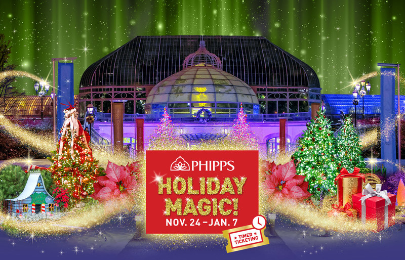 Phipps Conservatory's Winter Flower Show and Light Garden is bigger, better and more magical than ever!