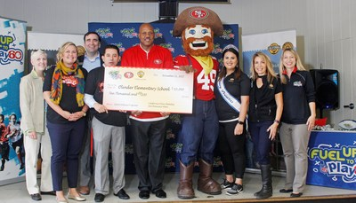 California Dairy Families and San Francisco 49ers Reward Olinder Elementary School with $10,000 Grant for Commitment to Youth Health & Wellness