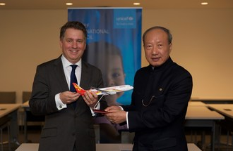 HNA Chairman Chen Feng Met with UNICEF's Deputy Director, Justin Forsyth