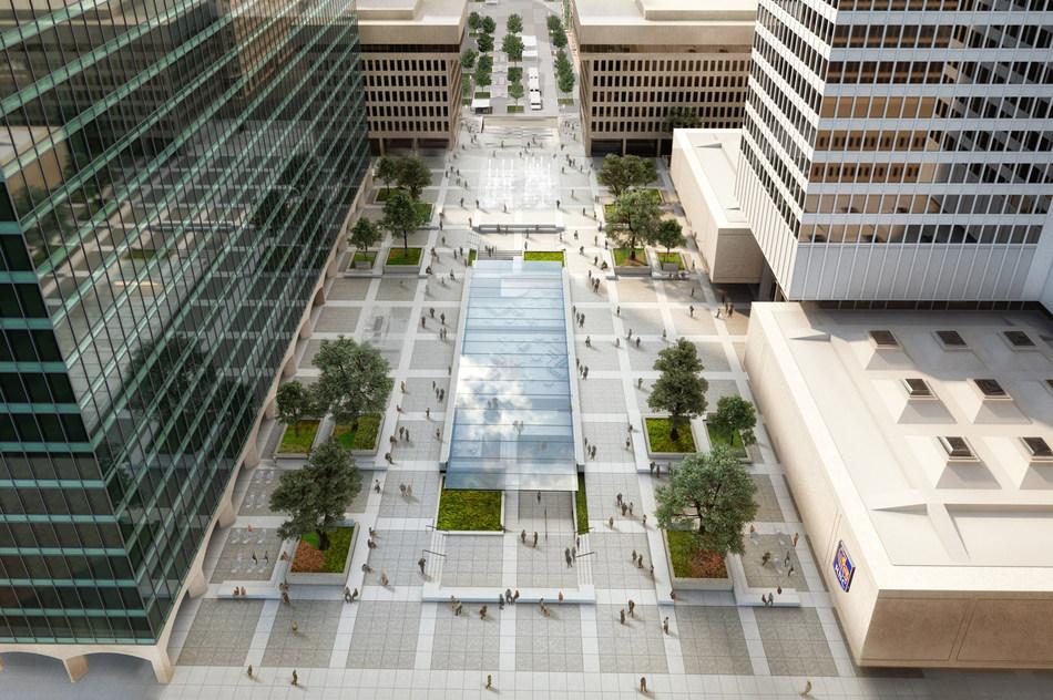Ivanhoé Cambridge amorce d'importants travaux à l'Esplanade de Place Ville Marie (Groupe CNW/Ivanhoé Cambridge)