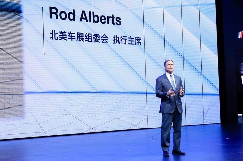 Rod Alberts, directeur général du Salon international de l'automobile de l'Amérique du Nord (NAIAS) (PRNewsfoto/GAC Motor)