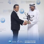 Announcing one of the winners for the 2017 KnowledgeAward: Hiroshi Komiyama, renowned Japanese scientist (PRNewsfoto/Mohammed Bin Rashid Al Maktoum F)