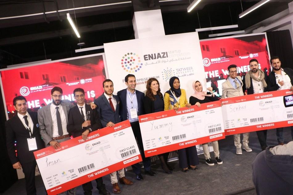 Winning Teams of ENJAZI Competition (PRNewsfoto/MITEF Pan Arab)