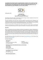 "SDX Energy Inc. (""SDX"" or the ""Company"") - Spud of KSR-16 development well, Morocco (CNW Group/SDX Energy Inc.)"