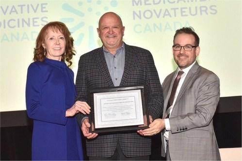 Pamela Fralick, Innovative Medicines Canada; Mike Tremblay, Astellas Pharma; Josh Lai, Toronto General & Western Hospital Foundation (CNW Group/Innovative Medicines Canada)