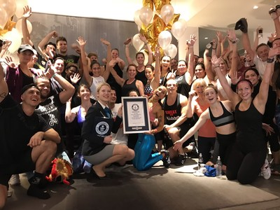 Peloton Secures GUINNESS WORLD RECORDS ™ Title for the Largest Live Cycling Class