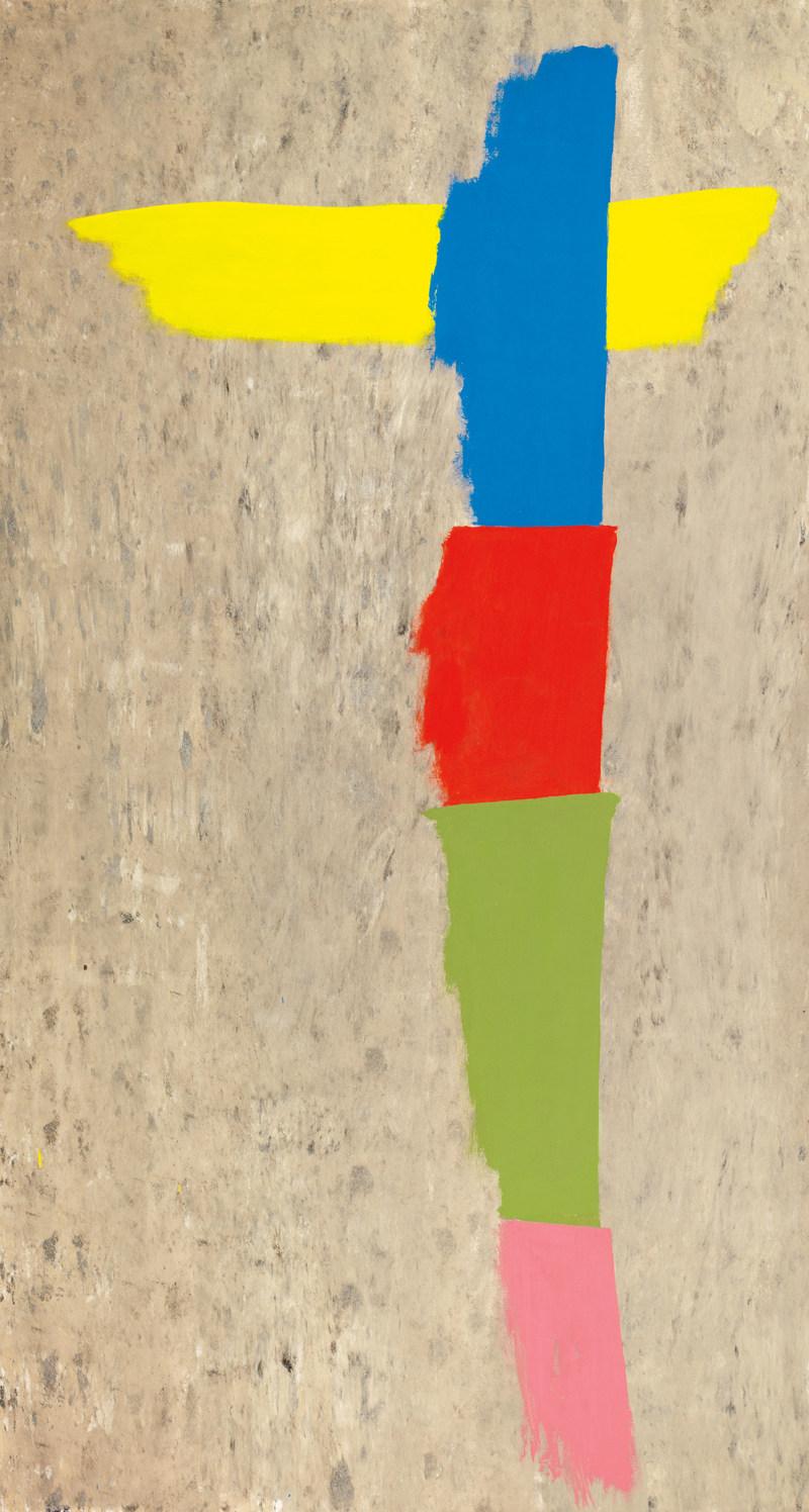 Winged Totem, une puissante œuvre de Jack Bush, a été acquise pour 601 250 $ lors de la vente automnale de la Maison Heffel (Groupe CNW/Maison de ventes aux enchères Heffel)