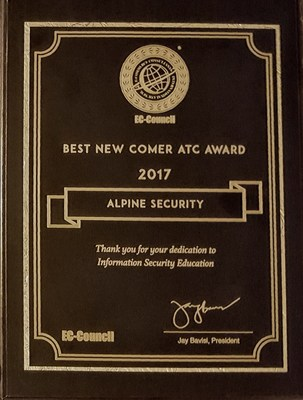 2017 Best Newcomer EC-Council Accredited Training Center (ATC) for North America