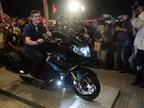 Mr. Dimitris Raptis with the new BMW K 1600 B (PRNewsfoto/BMW India)