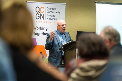 William Floch, Secretary for Relations with English-speaking Quebecers. (CNW Group/Quebec Community Groups Network (QCGN))