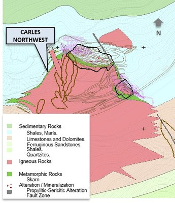 Figure 1: El Valle-Boinás and Carlés Maps Showing Location of BSO, EBX and CNW - Carlés Deposit (CNW Group/Orvana Minerals Corp.)