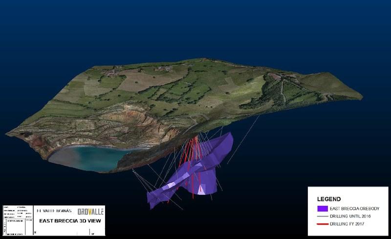 Figure 3: El Valle-Boinás – EBX 3D View (CNW Group/Orvana Minerals Corp.)