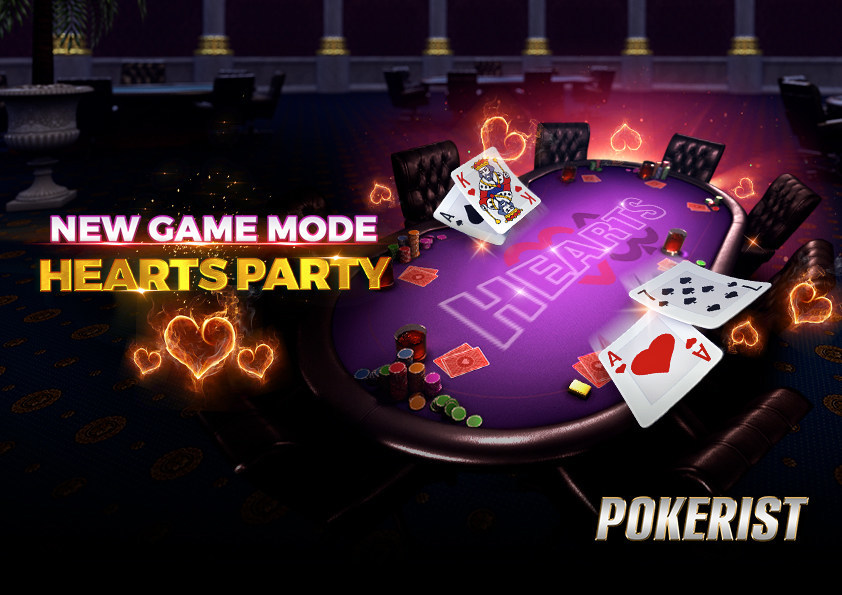 Pokerist Hearts Party Game Mode (PRNewsfoto/KamaGames)