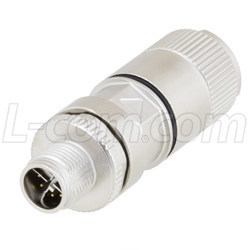 L-com Releases New M12 Connectors, Coupler and Receptacles