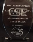 Lifestyle Delivery Systems Inc. Announces that on November 14th 2017, at the CSE Celebration, LDS was Recognized as a Member of the CSE 25 Index