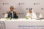 Professor the Lord Darzi of Denham, Executive Chair of WISH (left), Khalifa Al Kubaisi, Head of Press Office, Qatar Foundation, at the launch of WISH 2018, in Doha, Qatar. (PRNewsfoto/WISH)