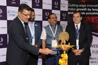 L- R : Mr. Yogesh Mudras, Managing Director, UBM India Mr. Aasif Khan, Director, Fabtech Technologies Shri. Satish Wagh, Chairman, Chemexcil Mr. Jime Essink, Chief Executive Officer, UBM Asia Ltd (PRNewsfoto/UBM India Pvt. Ltd.)