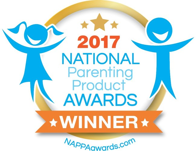 """With 25 years of experience in the industry, the NAPPA award is one of the longest running and most respected awards programs in the U.S. NAPPA has continuously been celebrated as the """"go-to"""" source for parents and professionals seeking the best products for their children and families."""