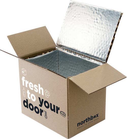 Cascades has developed northbox, a recyclable thermal box that ensures e-shipment temperature-sensitive product to your customer's door. (CNW Group/Cascades Inc.)