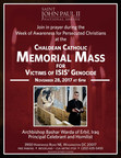 Memorial Mass in Washington on Nov. 28 for Victims of ISIS Genocide