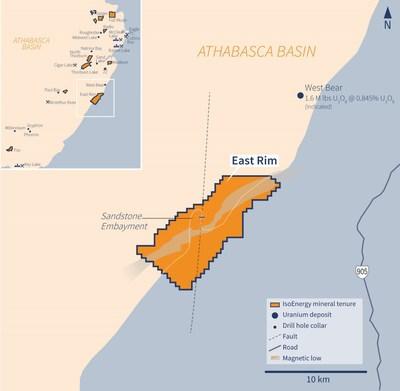 Figure 3 – East Rim Property (CNW Group/IsoEnergy Ltd.)