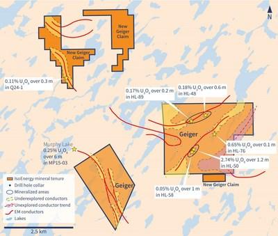 Figure 5 – New Geiger Claims (CNW Group/IsoEnergy Ltd.)