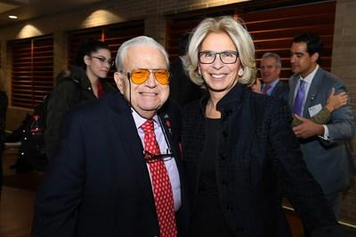Celebrating Launch of St. John's Mattone Family Institute for Real Estate Law  Joseph Mattone, Sr. with Hon. Janet  DiFiore