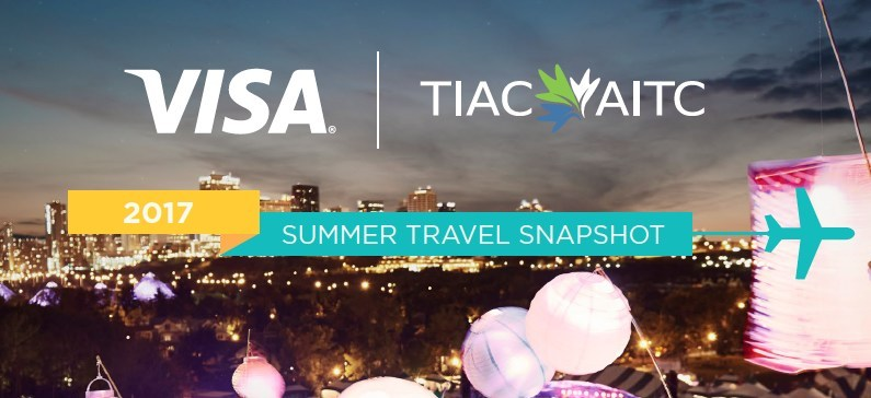 TIAC and Visa 2017 Summer Travel Snapshot (CNW Group/TOURISM INDUSTRY ASSOCIATION OF CANADA)